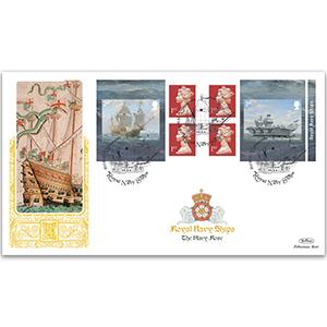 2019 Royal Navy Ships Retail Booklet Gold 500