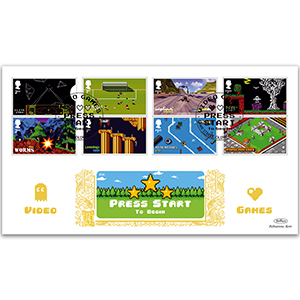 2020 Video Games Stamps GOLD 500