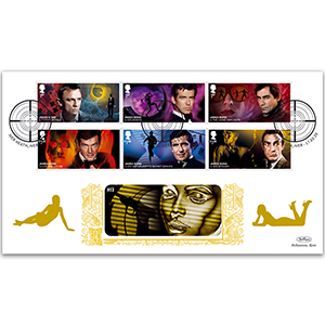 2020 James Bond Stamps GOLD 500