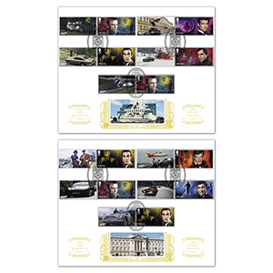 2020 James Bond Generic Sheet Gold 500 Pair of Covers