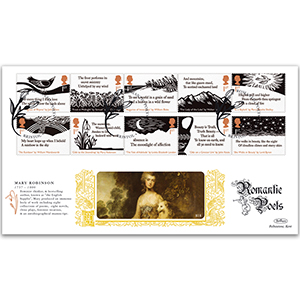 2020 Romantic Poets Stamps GOLD 500