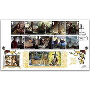 2021 Legend of King Arthur Stamps GOLD 500