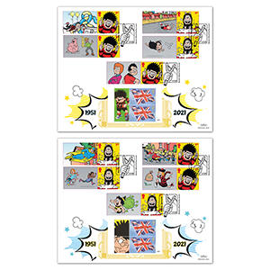 2021 Dennis and Gnasher Collector Sheet GOLD 500 Pair