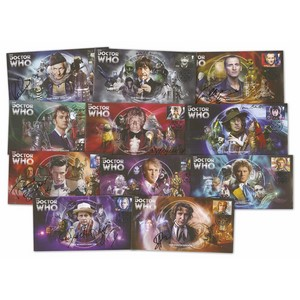 11 signed Doctor Who (sel86 p10)