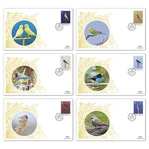 Isle of Man Show Bird Covers Set of 6