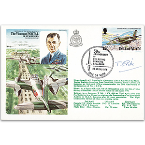 1978 Viscount Portal - Flown - Signed MRAF Sir T. Pike