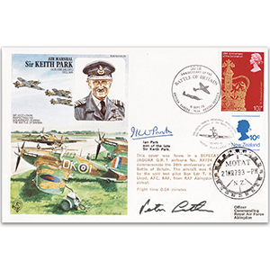 1978 Sir Keith Park - Flown - Signed I. Park & Latham