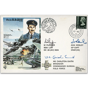 1978 Hong Kong - Flight Lieutenant H. B. Gray GC - Signed by 3