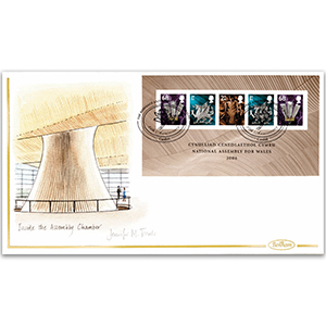 2006 Welsh Assembly M/S Hand Painted Cover - Jennifer M. Toombs