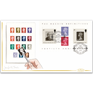 2007 Machin Definitives 40th M/S Hand Painted Cover - Jennifer M. Toombs