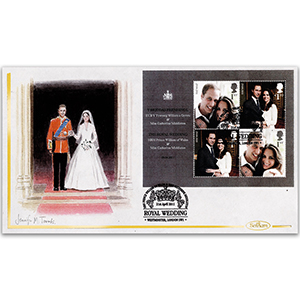 2011 Royal Wedding M/S Hand Painted Cover - Jennifer M. Toombs