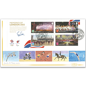 2012 Olympic/Paralympic Memories of London M/S - Handpainted by Jennifer M. Toombs