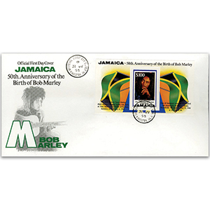1995 50th Anniversary of the birth of Bob Marley.