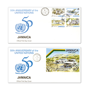 1995 50th Anniversary of the United Nations - Pair of Covers