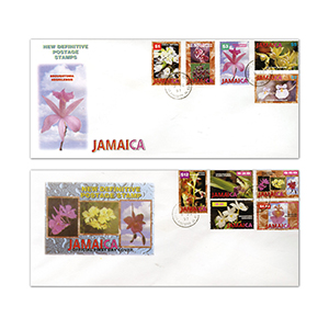 1997 New Jamaican Definitive Postage Stamps - Pair of Covers