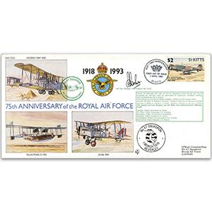 1993 RAF 75th - Signed by AVM J. A. Cheshire CBE - RAF Staff College Bracknell