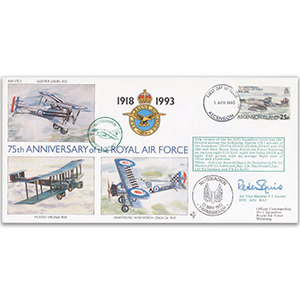 1993 Ascension Islands RAF 75th - No.1 Sqn - Signed AVM P.T. Squire