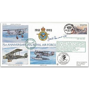 1993 Bahamas RAF 75th - No 11 Sqn. - Signed by ACM Sir David Harcourt-Smith GBE