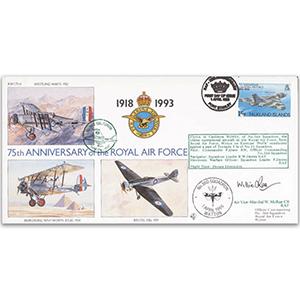 1993 Falkland Islands RAF 75th - No.360 Sqn. - Signed AVM W. McRae