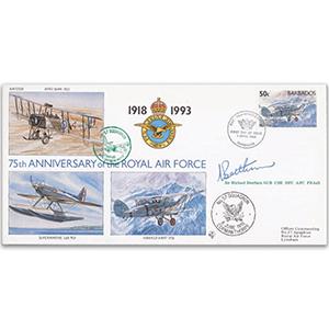 1993 Barbados RAF 75th - No. 57 Sqn. - Signed by Sir Michael Beetham GCB