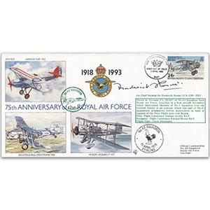 1993 BIOT RAF 75th - No. 43 Sqn. Special - Signed by ACM Sir Frederic Rosier GCB