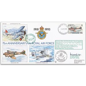 1993 Ascension Island RAF 75th - No. 32 Sqn. Special - Signed by ACM Sir Michael Knight KCB