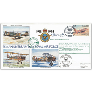 1993 St Kitts RAF 75th - No. 100 Sqn. Special - Signed by AVM W. J. Herrington CB