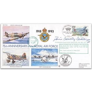 1993 Fiji RAF 75th - No 6 Sqn. Special - Signed ACM Sir Denis Crowley-Milling KCB