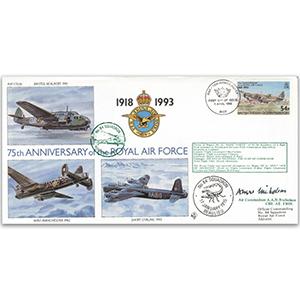 1993 BIOT RAF 75th - No. 84 Sqn. Special - Signed Air Cdr. A. A. N. N Nicholson CBE