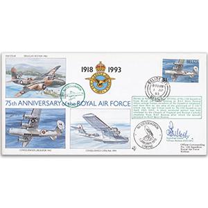 1993 Belize RAF 75th - No.120 Sqn. - Signed Sqn. Ldr. T. Bulloch