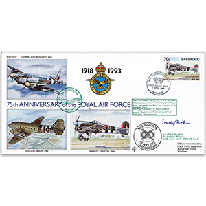 1993 Barbados RAF 75th - Signed by Air Chief Marshal Sir Andrew Wilson