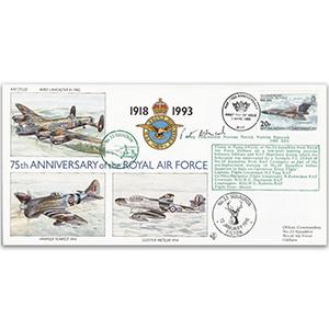 1993 B.I.O.T RAF 75th - No.33 Sqn. - Signed Wing Cdr. N.P.W. Hancock