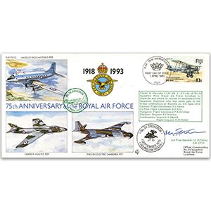 1993 RAF 75th - Signed by AVM J. H. F Tetley CB. - No. 24 Sqn. Association President