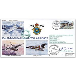 1993 B.I.O.T RAF 75th - No.115 Sqn. - Signed Gp. Capt. W. Devas
