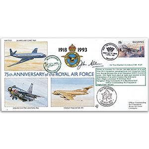 1993 Bahamas RAF 75th - No.5 Sqn. - Signed AVM J. Allison
