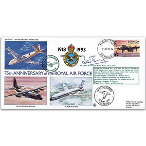 1993 Bermuda RAF 75th - No. 51 Sqn - Signed by ACM Sir Peter Terry GCB