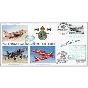 1993 Fiji RAF 75th - No. 54 Sqn - Signed by AVM D. Scott-Malden DSO
