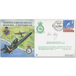 1995 Battle of Britain Open Day - Flown - Signed by Pilot