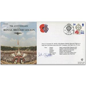 1996 75th Anniversary Royal British Legion - Flown - Signed by Pilot