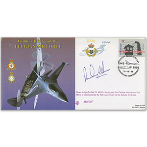 1996 Golden Jubilee of the Belgian Air Force - Flown - Signed by pilot