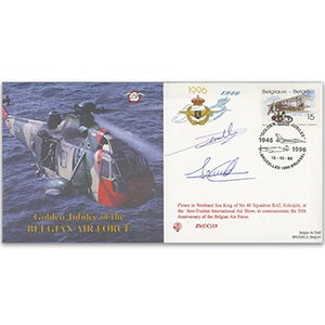 1996 Belgian Air Force 50th Anniversary - Flown - Signed by Pilot