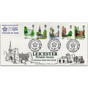 1980 Philatelic Society Main Cov - Leicester handstamp