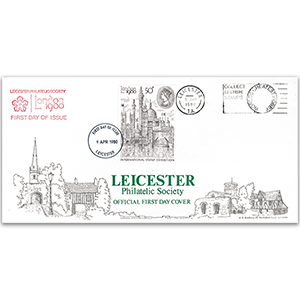 1980 London Exhibition 50p LFDC - Leicester Philatelic Society