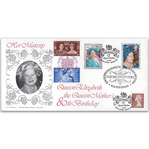 1980 Queen Mother's 80th LFDC - Windsor - Doubled 1995
