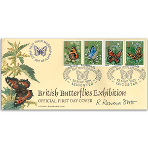 1981 Butterflies LFDC - Leicester - Signed by R. Rowena Stott