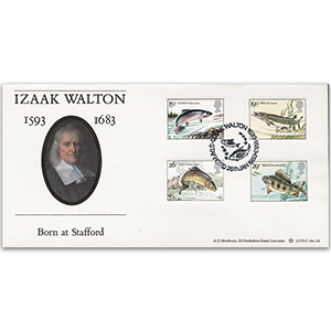 1983 River Fish - Izaak Walton 300th Official - Stafford