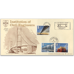 1983 Engineering Cleveland - Collect British Stamps handstamp