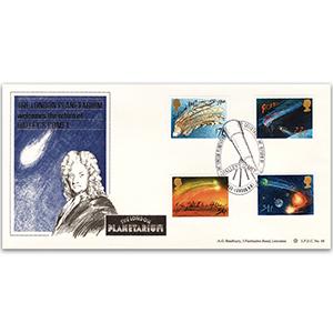 1986 Halley's Comet, London Planetarium handstamp