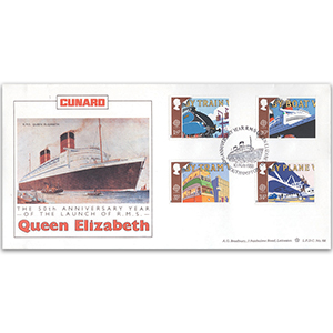 1988 Europa: Transport and Mail Services LFDC - RMS Queen Elizabeth 50th - Southampton