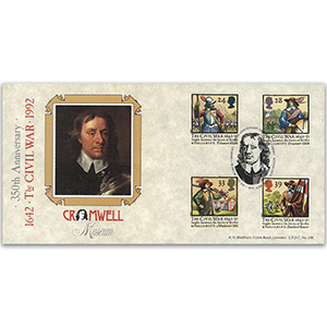 1992 Civil War Cromwell Huntingdon, Cambs spec handstamp